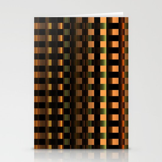 Abstract Series - Checkered pattern Stationery Cards