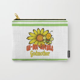 Unbelievable Godmother Sunflowers and Bees Carry-All Pouch