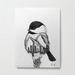Mountain Chickadee Metal Print