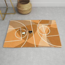 Street Basketball Court From Above  Rug