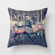 Black Stallion! Throw Pillow