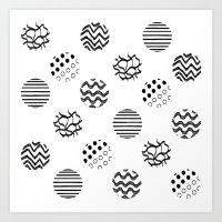 polka dot Art Prints featuring Polka Dot by AndaLouz