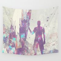 surfboard Wall Tapestries featuring Explorers III by HappyMelvin