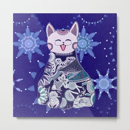 Your Touchy Cat Metal Print