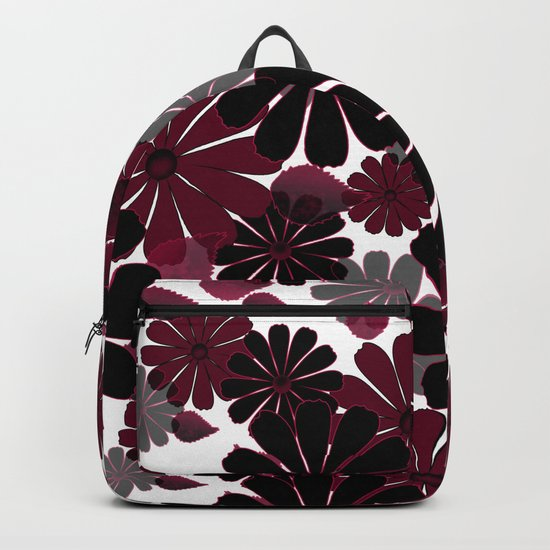 Abstract floral pattern .5 Backpack