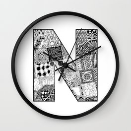 Cutout Letter N Wall Clock