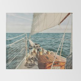 Open Ocean Sailing Throw Blanket