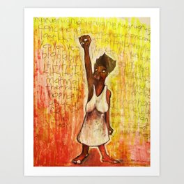 2011 Power to the People and Justice Art Print