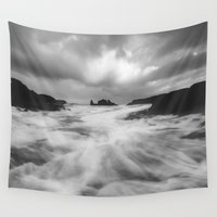 dave grohl Wall Tapestries featuring Stormy Morning by Peaky40