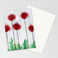 Red Wildflowers Stationery Cards