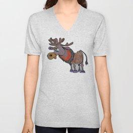 cartoon moose Unisex V-Neck
