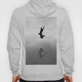 Abstract Beach | Jump for Joy Dramatic Black and White Happy Sunset Gray Bright Mood Hoody
