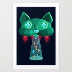 CatShip Art Print