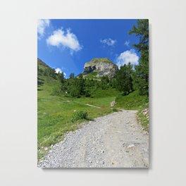 Swiss alpine landscape Metal Print