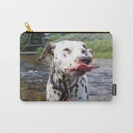 Charlotte Mid-Slurp -- Dalmatian Tongue Carry-All Pouch