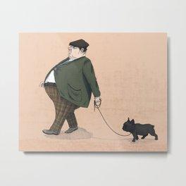 A Man with a Dog Metal Print