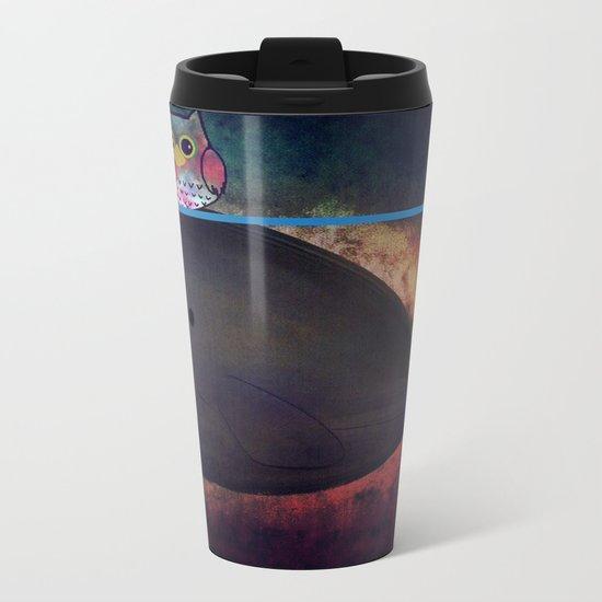 owl&whale-18 Metal Travel Mug