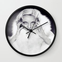 Classic Carole Lombard Wall Clock