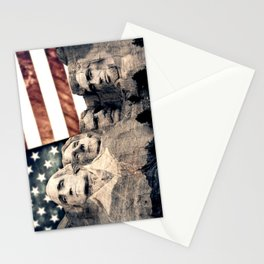 Patriotic Mount Rushmore Stationery Cards