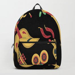 Music Pattern Music Band Gift for Musician Backpack