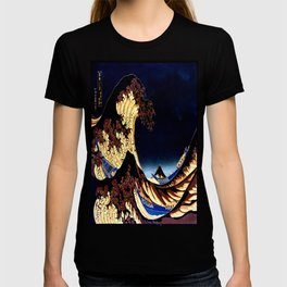 The GREAT Wave Midnight Blue Brown T-shirt