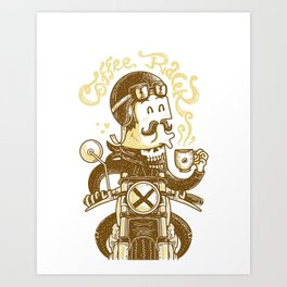 Coffee Racer Art Print