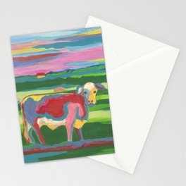 Psychedelic Cow Stationery Cards
