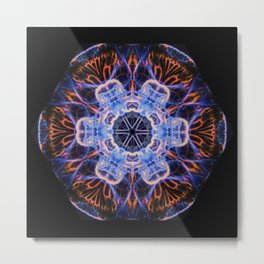 Moon Jelly Mandala Metal Print