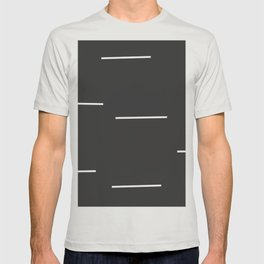 Black Mudcloth white dashes T-shirt
