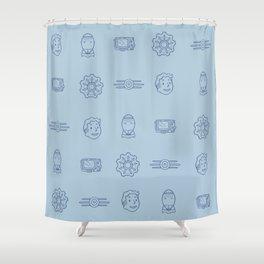 Fallout- Vault Dweller pattern Shower Curtain