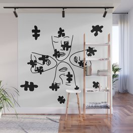 Foursome puzzled  Wall Mural