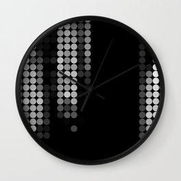 Shades Of Grey Dot Pattern - Syfy - Black & White - Matrix Wall Clock