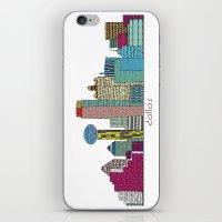 dallas iPhone & iPod Skins featuring Dallas city  by bri.buckley