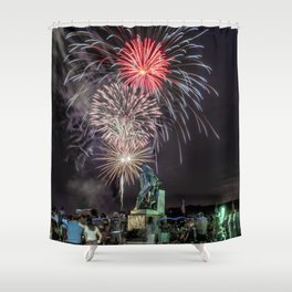 Fourth Of July Fireworks Gloucester Shower Curtain