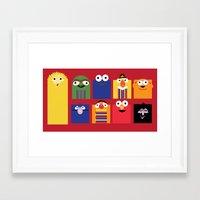 sesame street Framed Art Prints featuring Sesame street by Maria Jose Da Luz