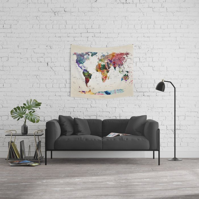 map Tapestry by mark ashkenazi Editions