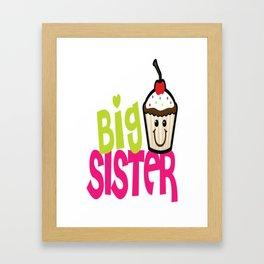 Big sister cupcake Framed Art Print