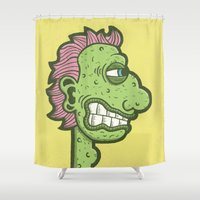kevin russ Shower Curtains featuring Bumpy by Kevin Berquist by UCO Design