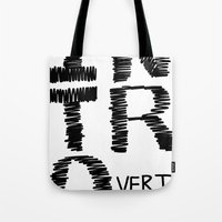 introvert Tote Bags featuring Introvert by Lizzi Davis