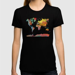 World Map colored T-shirt