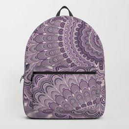 Purple feather mandala Backpack