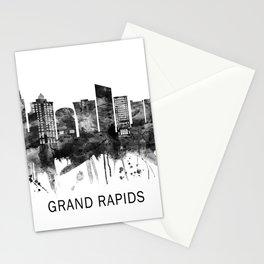 Grand Rapids Michigan Skyline BW Stationery Cards