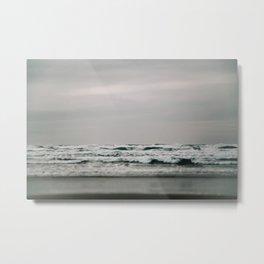 Waves Crashing on Cannon Beach Oregon Metal Print
