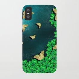 clover and butterflies iPhone Case