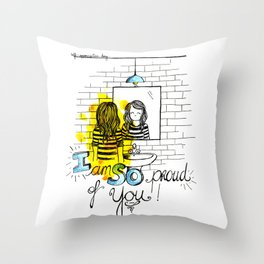 Self-appreciation day Throw Pillow