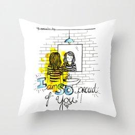 Self-appreciation day Throw Pillow