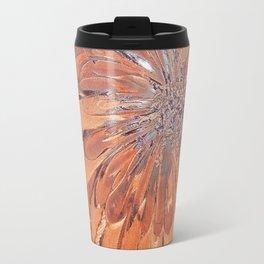 Brown flower Travel Mug