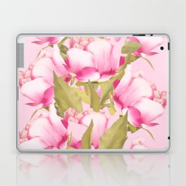 Pink Peonies on a pink background - #Sociey6 #buyart Laptop & iPad Skin