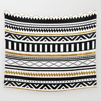 aztec Wall Tapestries featuring Aztec by Kakel