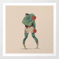 ...stings like a bee! Art Print